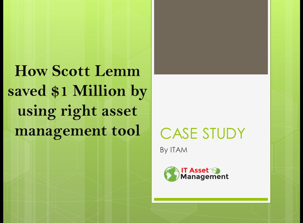 Asset Management can save $1M Dollars