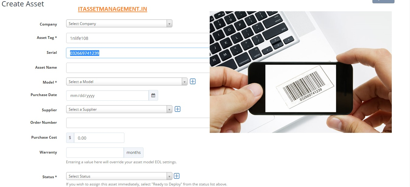 Using Mobile as a scanner for It-asset-management